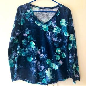 Pretty Sonoma Long Sleeve Floral V Neck Tee
